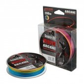 Леска плетёная AKKOI MaskArcane X4-200 (multi color) d0,18mm
